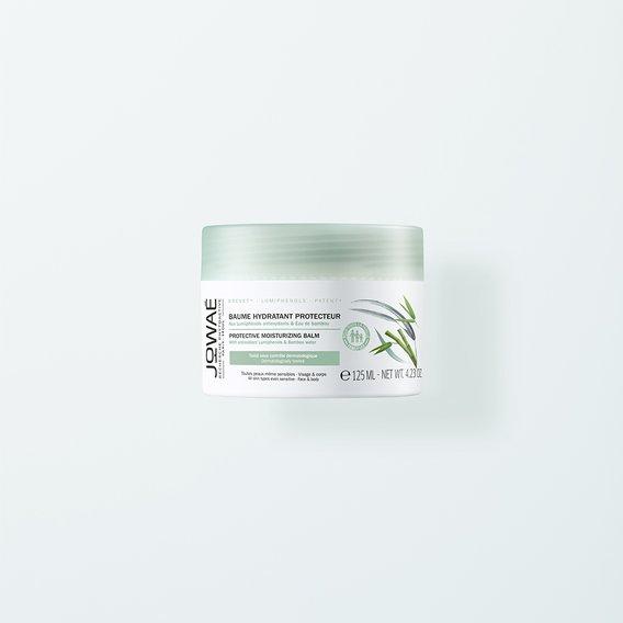 BÁLSAMO HIDRATANTE PROTECTOR Con Lumifenoles antioxidantes y Agua de bambú. Rostro y cuerpo. 96% ingredientes origen natural Hidrata reconforta y protección diaria de la piel. La piel se reequilibra y se calma, está más suave y flexible.