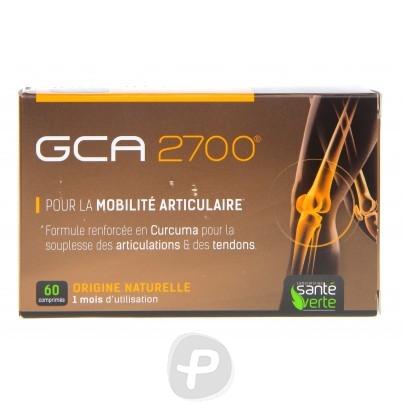 GCA 2700 est un complexe de 6 actifs à base de glucosamine, de chondroïtine, de MSM, de griffe du diable, d'acide hyaluronique et de curcuma et contribue à maintenir la force et la mobilité des articulations en soulageant les douleurs articulaires.