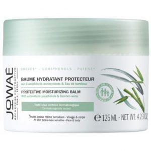 BÁLSAMO HIDRATANTE PROTECTOR Con Lumifenoles antioxidantes y Agua de bambú Todas las pieles, incluso las sensibles. Rostro y cuerpo. 96% de ingredientes de origen natural Hidrata, reconforta y ayuda a la protección diaria de la piel. La piel se reequilibra y se calma, está más suave y flexible.