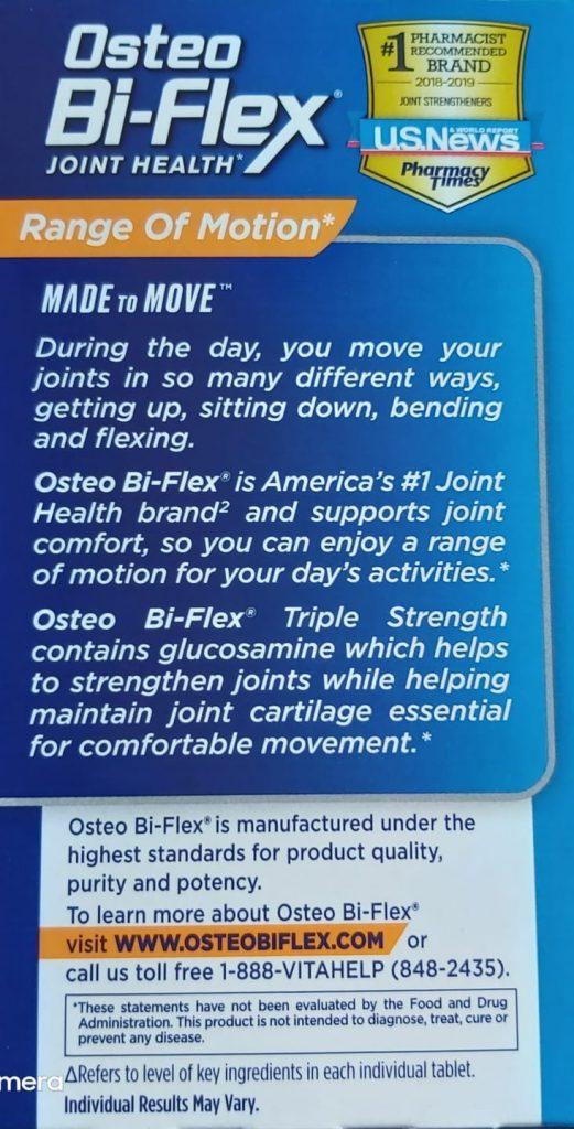 Osteo Bi-Flex ha supuesto un avance muy importante en la lucha de enfermedades como la osteoartritis y la artritis a base condroitina y glucosamina ha conseguido combatir el desgaste de las articulaciones por la edad o por práctica deportiva